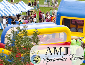 AMJ Spectacular Events rents inflatables, chairs, games - everything to make your summer celebration memorable!